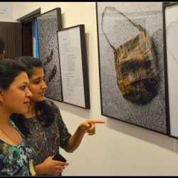 Photo-exhibition of the book Main Dhoondh Raha Hoon being inaugurated in Alliance Française de Bhopal