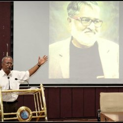 Eklavya's CN Subramaniam remembering Rex D'Rozario in the event on May 13, 2017